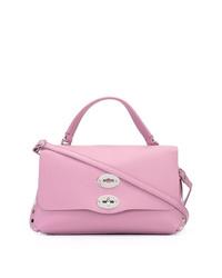 Bolso de hombre de cuero rosado de Zanellato