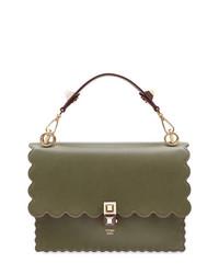 Bolso de hombre de cuero verde oliva de Fendi