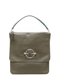 Bolso de hombre de cuero verde oliva de JW Anderson