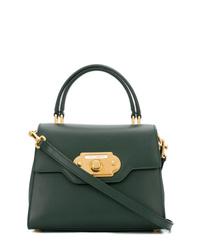 Bolso de hombre de cuero verde oscuro de Dolce & Gabbana