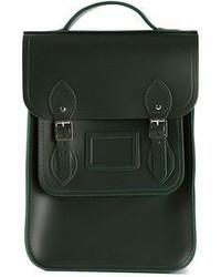 Bolso de hombre de cuero verde oscuro de The Cambridge Satchel Company