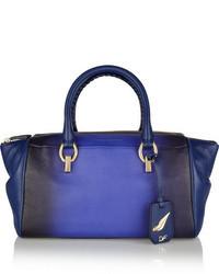 Bolso deportivo de cuero azul de Diane von Furstenberg