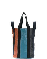 Bolso deportivo de cuero de rayas verticales en multicolor de Marni