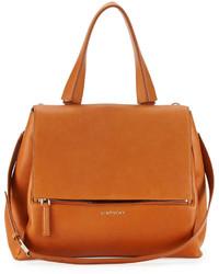 Bolso deportivo de cuero marrón claro de Givenchy