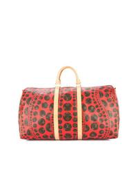 Bolso deportivo de cuero rojo de Louis Vuitton Vintage