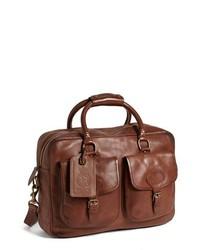 Bolso mensajero de cuero marrón de Polo Ralph Lauren