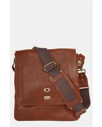 Bolso mensajero de cuero marrón de Will Leather Goods