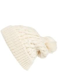 Bonnet en tricot beige