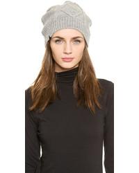 Bonnet en tricot gris Plush