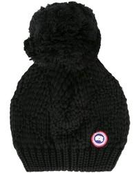 Bonnet en tricot noir Canada Goose