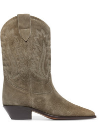 Botas a media pierna de ante marrónes de Etoile Isabel Marant