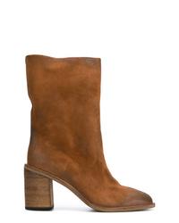 Botas a media pierna de ante marrónes de Marsèll
