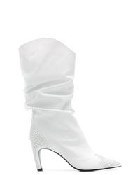 Botas a media pierna de cuero blancas de Aldo Castagna