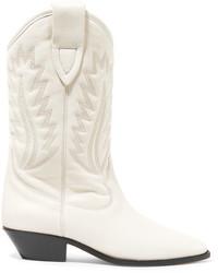 Botas a media pierna de cuero blancas de Etoile Isabel Marant