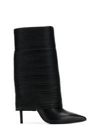 Botas a media pierna de cuero negras de Balmain
