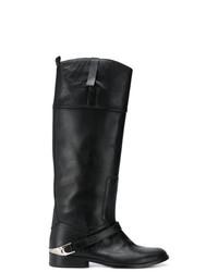 Botas a media pierna de cuero negras de Golden Goose Deluxe Brand