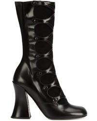 Botas a media pierna de cuero negras de Marc Jacobs