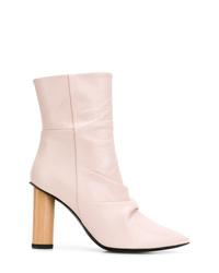 Botas a media pierna de cuero rosadas de IRO