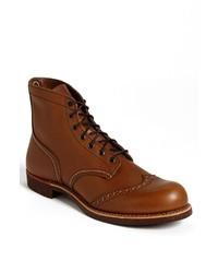 Botas brogue de cuero marrón claro de Red Wing Shoes