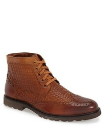 Botas brogue de cuero marrónes