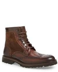 Botas brogue de cuero marrónes de Magnanni