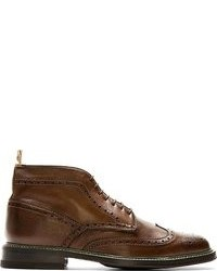 Botas brogue de cuero marrónes de Paul Smith
