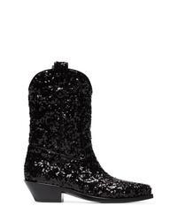 Botas camperas de cuero negras de Dolce & Gabbana