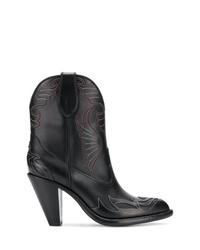 Botas camperas de cuero negras de Givenchy