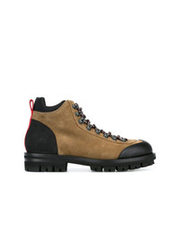 Botas casual de ante marrónes de DSQUARED2