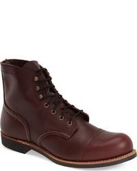 Botas casual de cuero burdeos de Red Wing Shoes