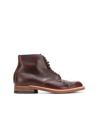 Botas casual de cuero en marrón oscuro de Alden