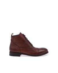 Botas casual de cuero en marrón oscuro de L'Eclaireur Made By