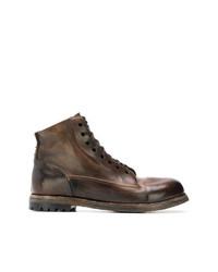 Botas casual de cuero en marrón oscuro de Silvano Sassetti