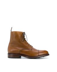 Botas casual de cuero en tabaco de Berwick Shoes