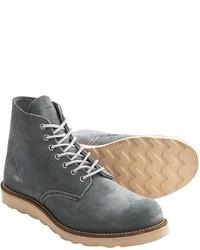 Botas casual de cuero grises