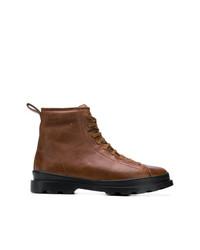 Botas casual de cuero marrónes de Camper