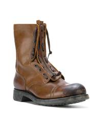 Botas casual de cuero marrónes de Maison Margiela