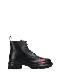 Botas casual de cuero negras de DSQUARED2