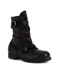 Botas casual de cuero negras de Guidi