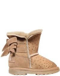 Botas con adornos marrón claro de Miss Blumarine