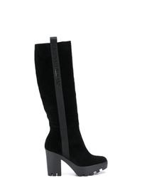 Botas de caña alta de ante negras de Calvin Klein Jeans