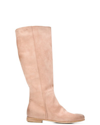 Botas de caña alta de ante rosadas de Marsèll