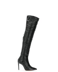 Botas de caña alta de cuero negras de Alexandre Birman