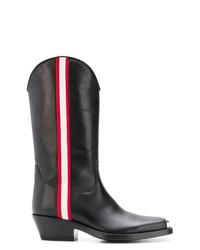 Botas de caña alta de cuero negras de Calvin Klein 205W39nyc