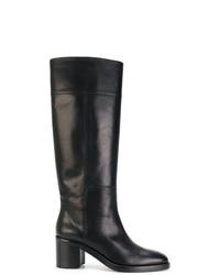 Botas de caña alta de cuero negras de Maison Margiela