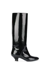 Botas de caña alta de cuero negras de Marc Jacobs