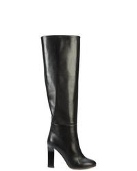 Botas de caña alta de cuero negras de Victoria Beckham