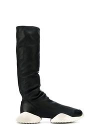 Botas de caña alta en negro y blanco de Adidas By Rick Owens