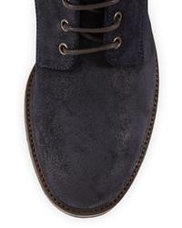 Botas de cuero azul marino de Brunello Cucinelli