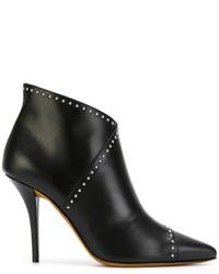 Botas de Cuero con Tachuelas Negras de Givenchy